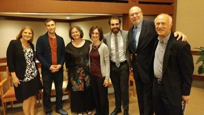 The Muslim guests of Temple Isaiah's Rabbi Howard Jaffe (second from right) in July included Nadeem Mazen (third from right), New England director of the Hamas-connected Council on American-Islamic Relations. Credit: Facebook.