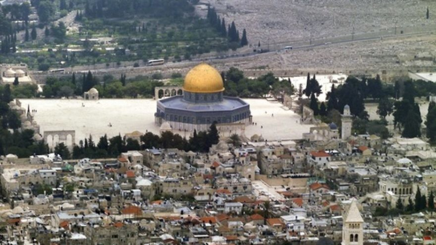 A view of the Temple Mount. Credit: Godot13 via Wikimedia Commons.