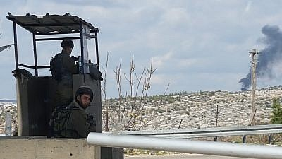 The Bell checkpoint near Bet Horon. Credit: Yaakov Lappin.