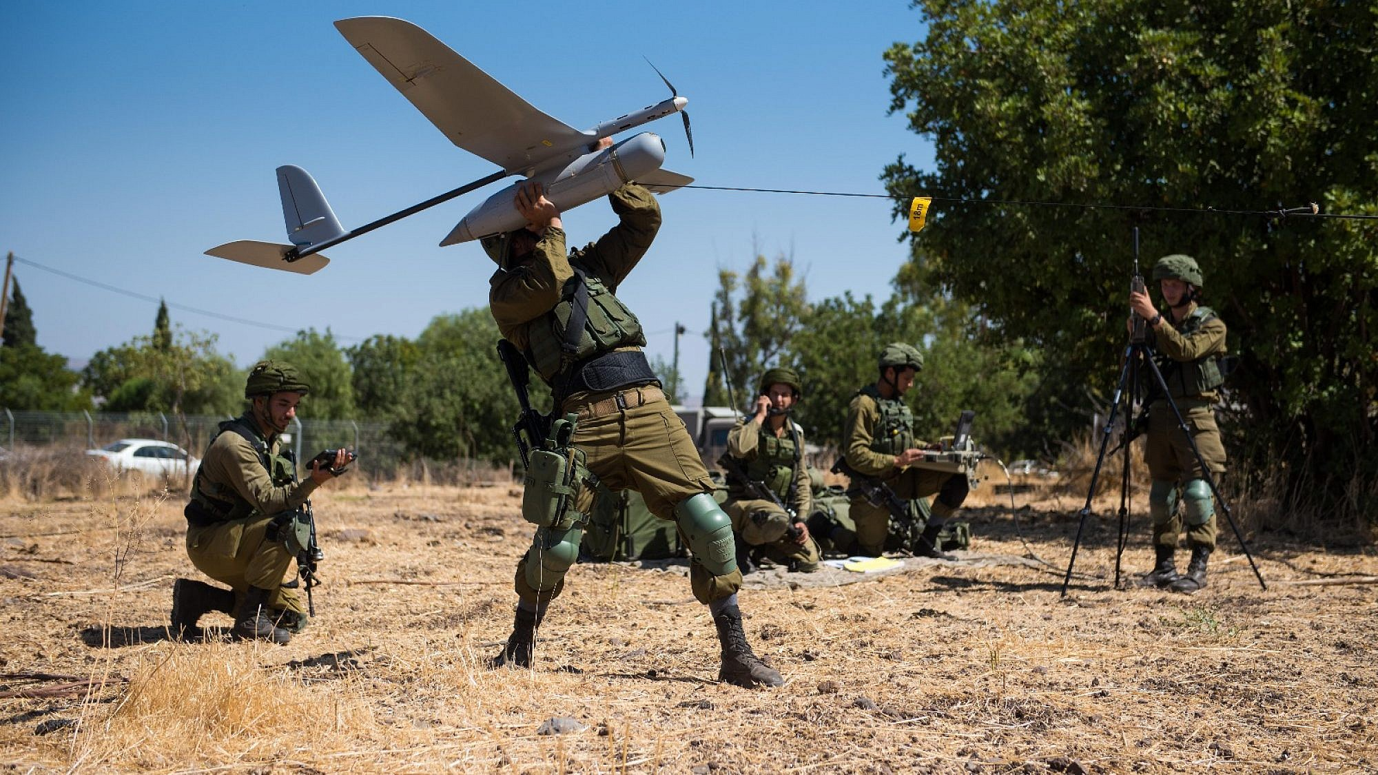 The IDF's Skylark Unit prepares one of its drones for flight. Credit: IDF.