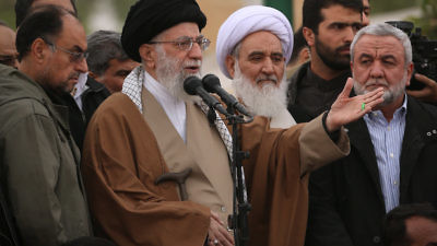 Iranian Supreme Leader Ayatollah Ali Khamenei speaks in Iran's Kermanshah Province in November 2017. Credit: Wikimedia Commons.