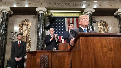 President Donald Trump delivers the 2018 State of the Union Address on Jan. 30. Credit: White House/Shealah Craighead.