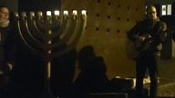 A Hanukkah candle-lighting ceremony in Tübingen. Credit: Orit Arfa.