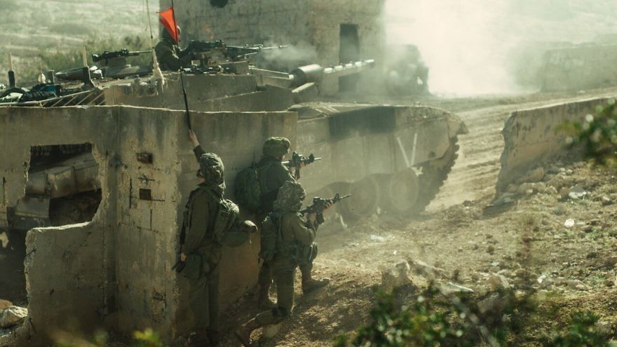 In late December, the IDF's new Haruv unit conducts a large-scale war drill that simulated Gaza's urban warfare settings. Credit: IDF Spokesperson's Unit.