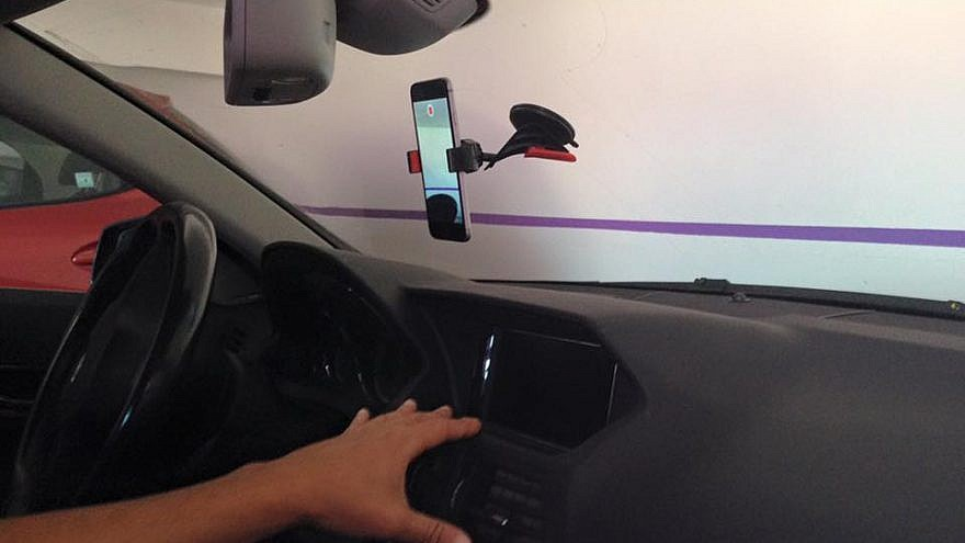 Nexar's application is used on a cell phone mounted as a dashboard camera. Credit: Nexar via Facebook.
