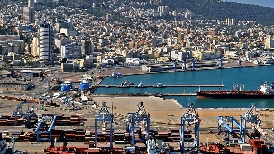 Israel's Haifa port. Credit: Zvi Roger/Haifa Municipality.