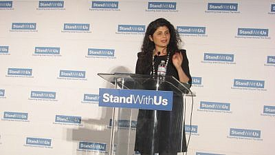 Israeli Knesset member Sharren Haskel of the Likud Party addresses the StandWithUs International Conference. Credit: Christina Mia Morales