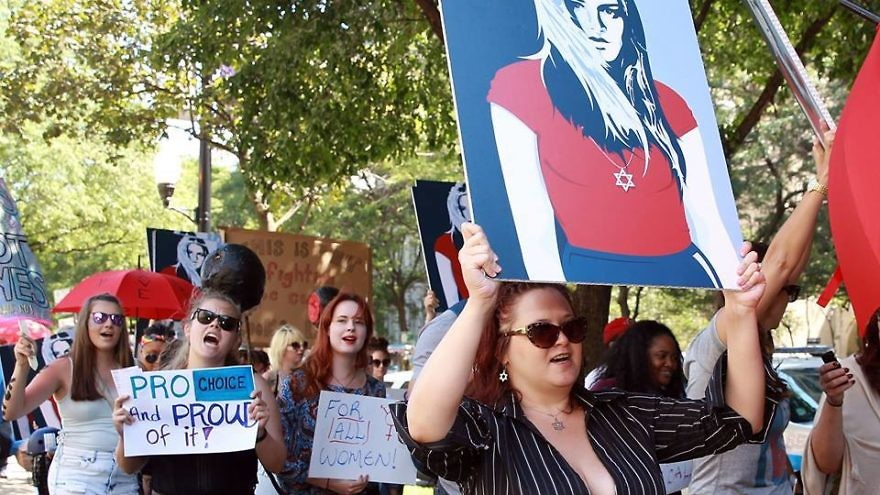 Zioness Movement activists march at the Aug. 12 Chicago SlutWalk. Credit: Zioness Movement via Facebook.