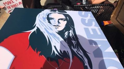 A Zioness Movement poster at the Aug. 12 Chicago SlutWalk. Credit: Zioness Movement via Facebook.