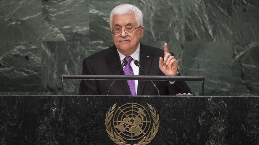 Palestinian Authority leader Mahmoud Abbas addresses the U.N. General Assembly in September 2015. Credit: U.N. Photo/Cia Pak.