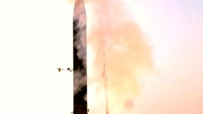 An Arrow 3 system test launch in January 2014. Credit: U.S. Missile Defense Agency.