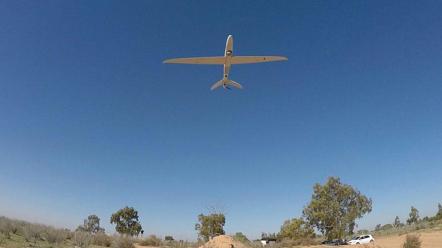 One of the Skylark drones in flight. Credit: IDF.