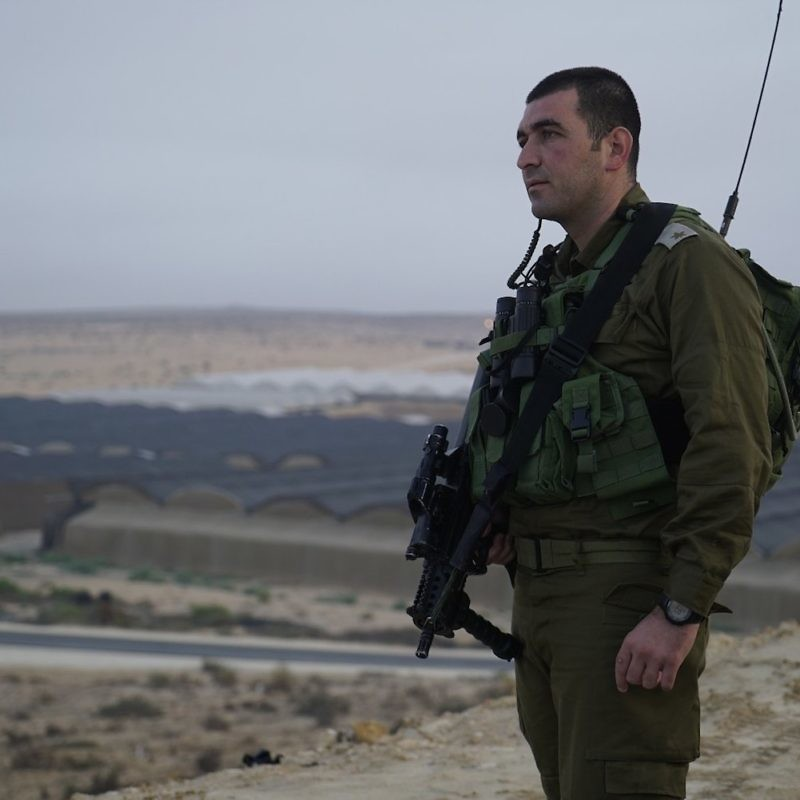 "Maj. Anan Ganm (pictured), a Druze-Israeli deputy commander of the Caracal Battalion, said the IDF understands that the Islamic State terror group ""is getting stronger in the Sinai."" Credit: IDF Spokesperson's Unit."