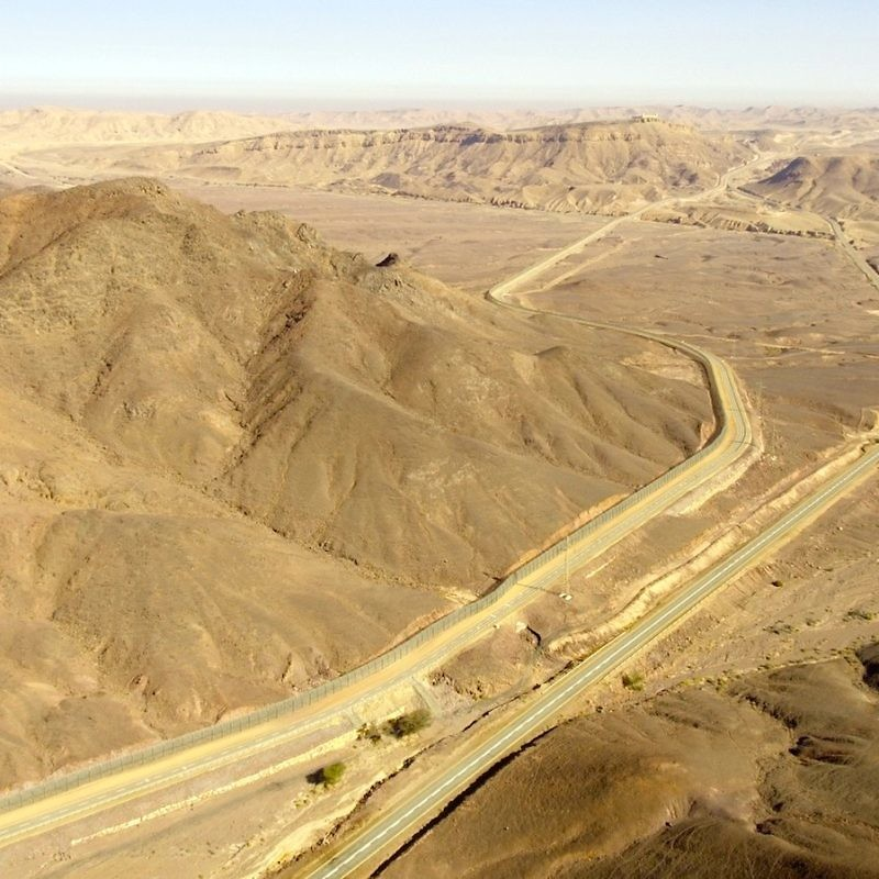 Route 10 (pictured) straddles the Israel-Egypt border. Credit: IDF Spokesperson's Unit.