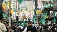 A pro-Hamas rally in Ramallah. Credit: Wikimedia Commons.