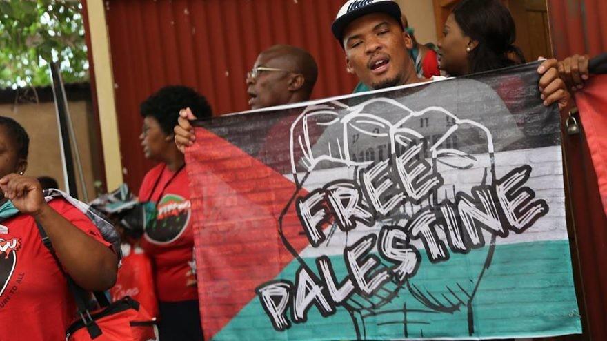 """""""Israeli Apartheid Week"""" in Hartebeestpoort, South Africa. Credit: Facebook."""