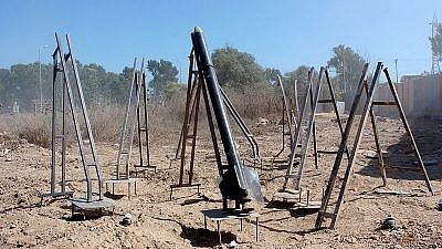 Hamas rocket-launchers in the Gaza Strip. Credit: IDF.