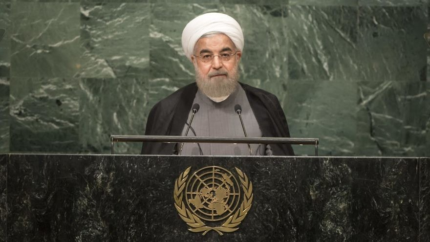 Iranian President Hassan Rouhani addresses the United Nations General Assembly on Sept. 20, 2017. Credit: U.N. Photo/Cia Pak.