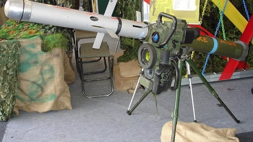 An Israeli-developed Spike anti-tank missile. Credit: Dave1185 via Wikimedia Commons.