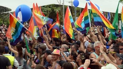 Tel Aviv's LGBT pride parade on June 7, 2013. Credit: U.S. Embassy in Israel.