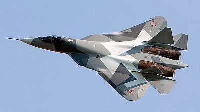 Russian Sukhoi Su-57 stealth fighter. Photo by Alex Beltyukov/Wikimedia Commons