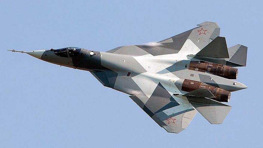 Russian Sukhoi Su-57 stealth fighter. Photo by Alex Beltyukov/Wikimedia Commons.