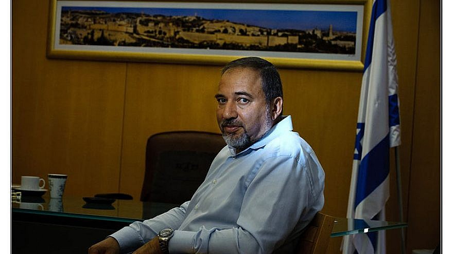 Defense Minister Avigdor Lieberman Credit: Wikipedia Commons,Edward Kaprov