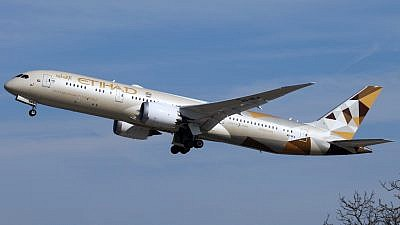 An Etihad Airways Boeing 787 aircraft. Credit: Gerry Stegmeier via Wikimedia Commons.