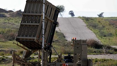 An Iron Dome battery seen near the Southern Israeli town of Beersheva. Photo by Flash90