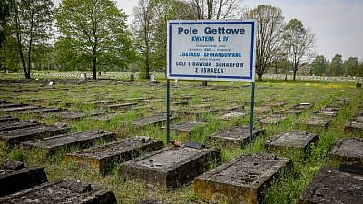 The Jewish cemetery in Lodz, Poland. May 11, 2017. Photo by Isaac Harari/Flash90.