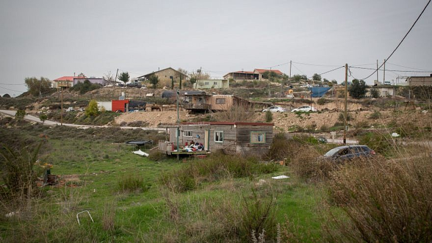 View of the West Bank settlement of Havat Gilad, January 10, 2018. Photo by Miriam Alster/Flash90