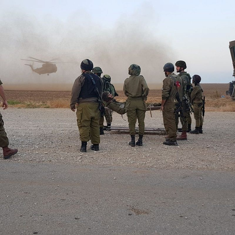 IDF medical personnel taking part in brigade combat drill. Credit: IDF Spokespersons Unit.