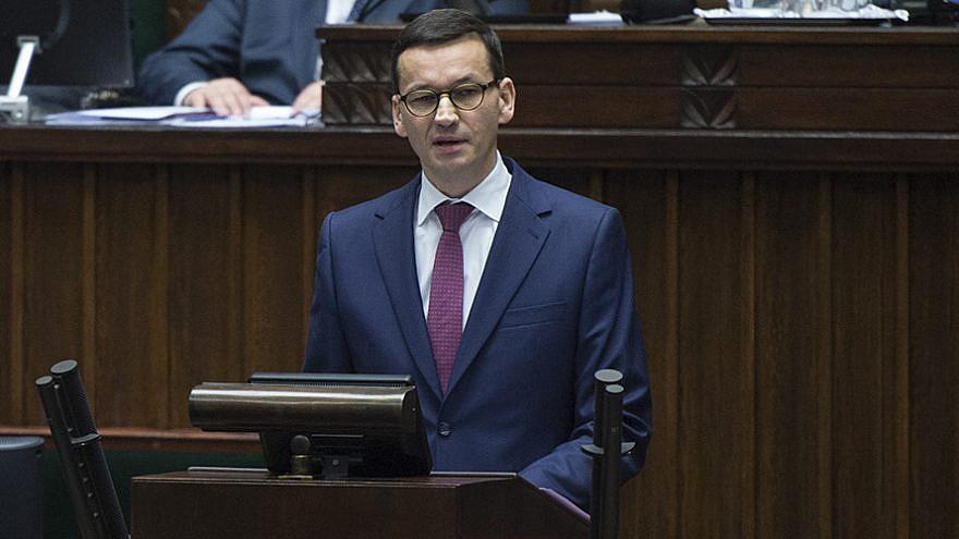 Polish Prime Minister Mateusza Morawieckiego. Photo from Wikimedia Commons