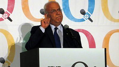 Senior Palestinian official Saeb Erekat. Credit: Wikimedia Commons.