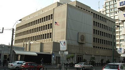 The current U.S. embassy in Tel Aviv. The U.S. will relocate its embassy to Jerusalem in May. Credit: Wikimedia Commons.