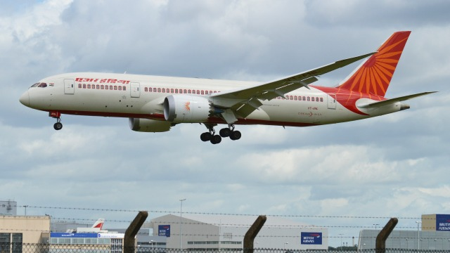 An Air India Boeing 787. Photo: Alan Wilson via Wikimedia Commons.