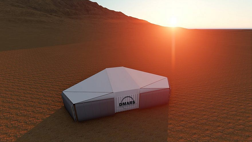 An artist's rendering of the D-Mars station in Israel's Negev desert. Credit: D-Mars Project.