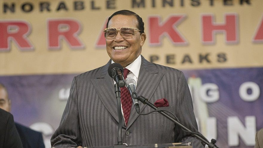 Nation of Islam leader Louis Farrakhan, who is considered an anti-Semite by the Southern Poverty Law Center. Credit: Twitter.