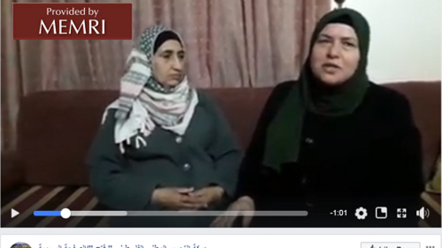 On its official Facebook page, Fatah posted a video showing Jarrar's mother thanking Fatah for its support of the family. (Credit: MEMRI)
