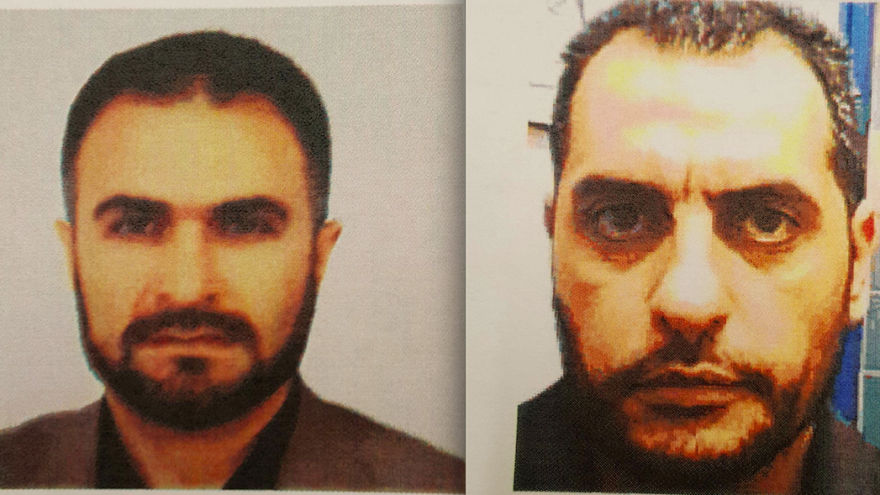 Turkish citizen Cemil Tekeli (left) and Israeli Arab Dara'am Jabarin, both arrested by Israel for their ties to Hamas. Credit: Shin Bet.