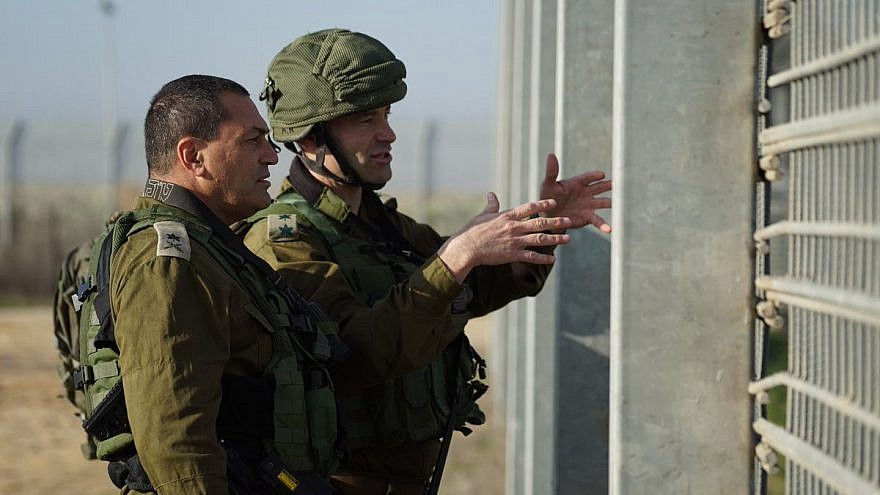 Israel Defense Forces Maj. Gen. Eyal Zamir, GOC of the Southern Command, near the Kerem Shalom border crossing between Israel and the Gaza Strip in late January after a Hamas tunnel was destroyed. Credit: IDF Spokesperson's Unit.
