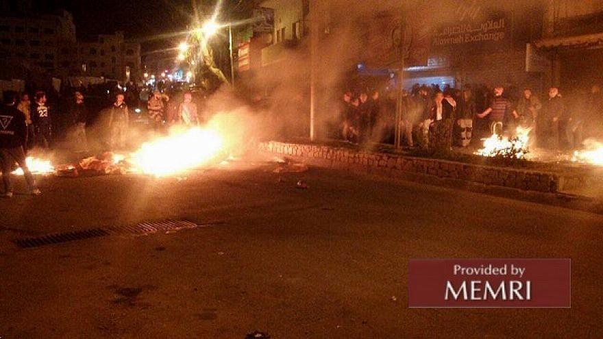 Riots in Al-Salt (Al-Sabil, Jordan, February 4, 2018)
