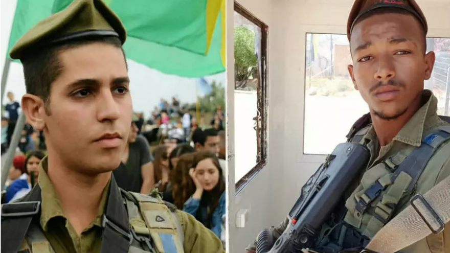 Staff Seargents Eshto Tespo (L) and Bar Yakubian (R), killed in vehicular accident on Highway 6, February 14, 2018. Photo courtesy of IDF Spokespersons Office