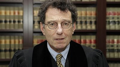 Judge Dan Aaron Polster in his Cleveland office on Jan. 11. Credit: AP Photo/Tony Dejak via Cleveland Jewish News.