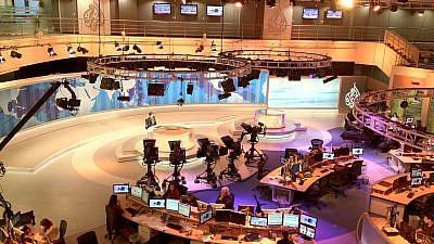 The Al Jazeera English newsroom. (Wikimedia Commons)