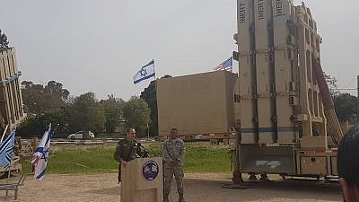 Lt.-Gen. Richard M. Clark, Commander, 3rd Air Force, and Brig.-Gen. Zvika Haimovich, Israeli Air Defense Commander. Credit: Yaakov Lappin.