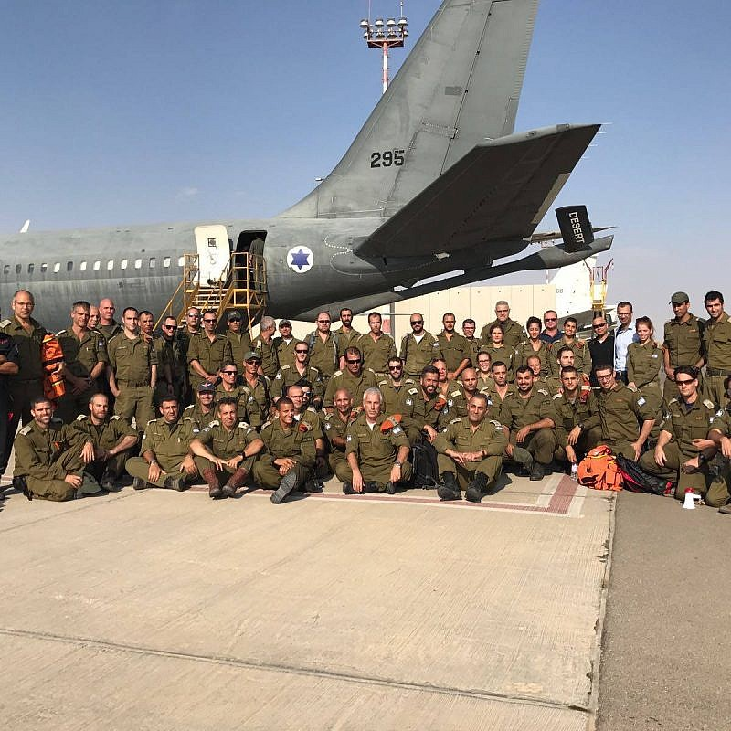 File: On Sept. 20, 2017, a delegation from the Israel Defense Forces departed for Mexico to aid in the earthquake relief efforts. Of the 71 soldiers, there were 25 engineers, who evaluated the damage and provide assessments and assistance in the disaster zone. Photo by IDF Spokesperson's Unit.