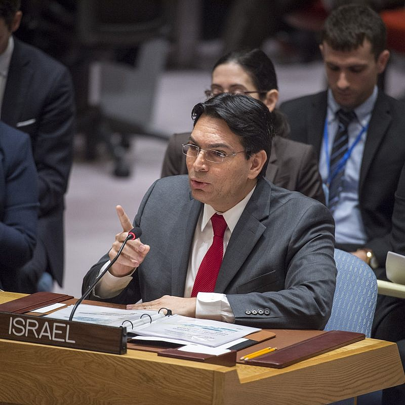 Danny Danon, Israeli Ambassador to the United Nations, addresses the Security Council meeting on the situation in the Middle East. Credit: UN Photo/Loey Felipe