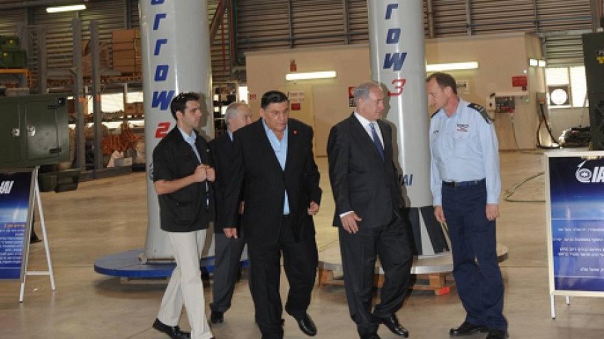 Israeli Prime Minister Benjamin Netanyahu at the Israel Aerospace Industries in 2010. Credit: Amos Ben Gershom/ Government Press Office/Flash90