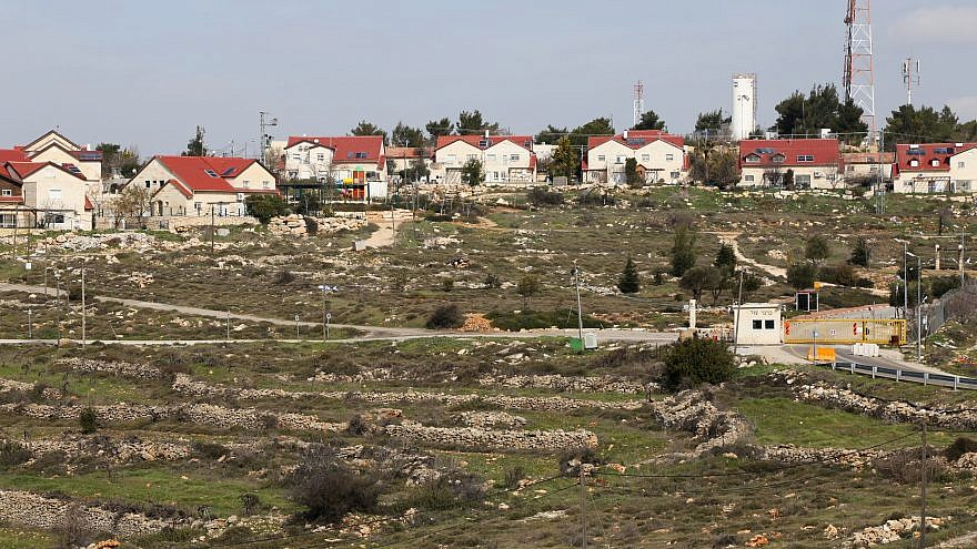View of the Jewish settlement of Karmei Tzur, in the West Bank, which neighbors Givat Sorek. Credit: Gershon Elinson/Flash90.